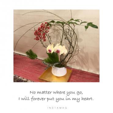 お正月らしいお花、…